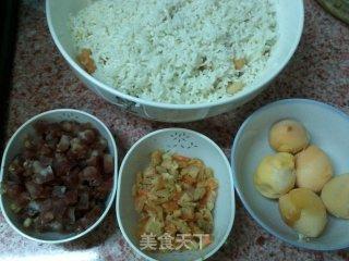 猪大肠煨糯米的做法_不用粽叶裹的粽子风味------猪大肠煨糯米_猪大肠煨糯米怎么做_菜谱