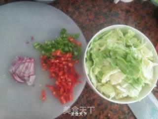 圆白菜虾米炒豆泡的做法_圆白菜虾米炒豆泡怎么做_784538685的菜谱