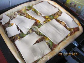 奶酪方形披萨的做法_早餐奶酪方形皮萨_奶酪方形披萨怎么做_菜谱