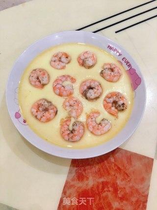 虾仁蒸水蛋的做法_虾仁蒸水蛋怎么做__蒍鉨变乖々的菜谱
