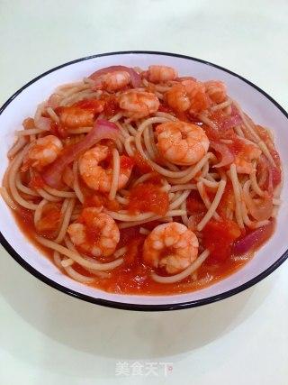 虾仁番茄意大利面的做法_虾仁番茄意大利面怎么做__蒍鉨变乖々的菜谱