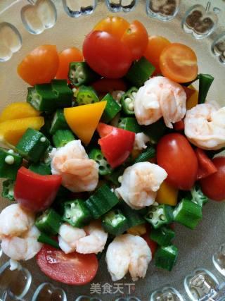秋葵虾球沙拉的做法_秋葵虾球沙拉怎么做_乐焙儿的菜谱