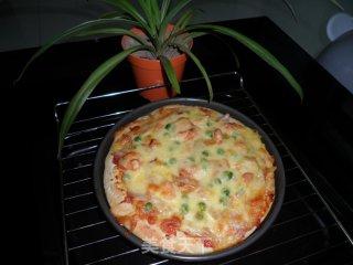 鲜虾鸡肉披萨的做法_鲜虾鸡肉披萨怎么做_白~雾的菜谱