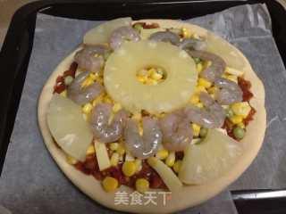 青豆菠萝披萨的做法_虾仁玉米青豆菠萝披萨_青豆菠萝披萨怎么做_ruoxin的菜谱