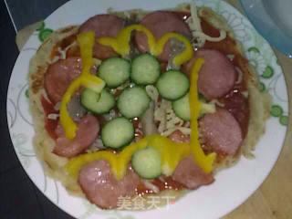 微波炉披萨的做法_微波炉披萨怎么做_帅帅他爸的菜谱