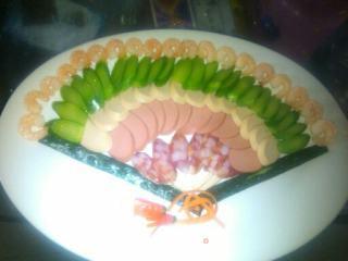 象形银盘之扇子拼盘的做法_象形银盘之扇子拼盘怎么做_食神扬帆的菜谱