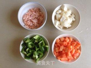 三色炒磷虾的做法_三色炒磷虾怎么做_海之韵美食记的菜谱