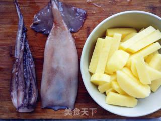 香辣鱿鱼烤土豆泥的做法_香辣鱿鱼烤土豆泥怎么做_寻找桃花岛的菜谱