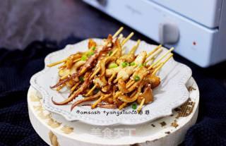 烤鱿鱼的做法_烤鱿鱼怎么做_雅雅杨小厨的菜谱