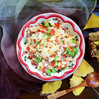 鱿鱼时蔬炒饭的做法_鱿鱼时蔬炒饭怎么做_米拉Miira的菜谱