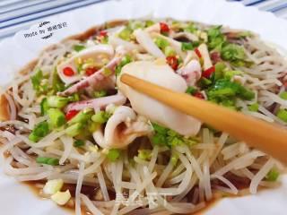 葱油鲜鱿芽菜的做法_葱油鲜鱿芽菜怎么做_祯祯宝贝的菜谱