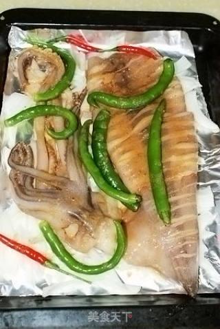 西式烤鱿鱼的做法_西式烤鱿鱼怎么做_君梦深蓝的菜谱