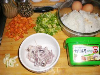 鱿鱼鲜蔬拌饭的做法_鱿鱼鲜蔬拌饭怎么做_菜谱