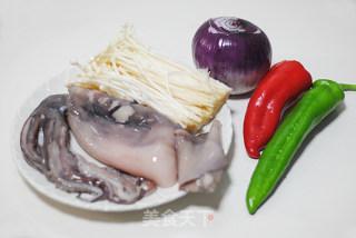 香烤鱿鱼金针卷卷的做法_香烤鱿鱼金针卷卷怎么做_菜谱