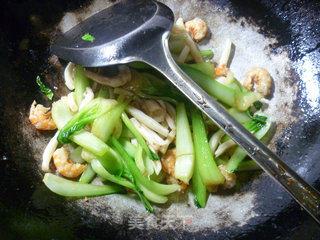 开洋鱿鱼炒菜梗的做法_开洋鱿鱼炒菜梗怎么做_花鱼儿的菜谱