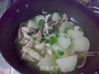 鱿鱼焖萝卜的做法_鱿鱼焖萝卜怎么做_火镀红叶的菜谱