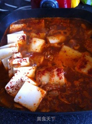 韩味辣白菜豆腐锅的做法_韩味辣白菜豆腐锅怎么做_菜谱