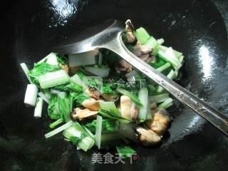 小白菜炒淡菜 的做法_小白菜炒淡菜 怎么做_花鱼儿的菜谱