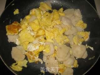 墨鱼丸炒鸡蛋的做法_墨鱼丸炒鸡蛋怎么做_京京~的菜谱